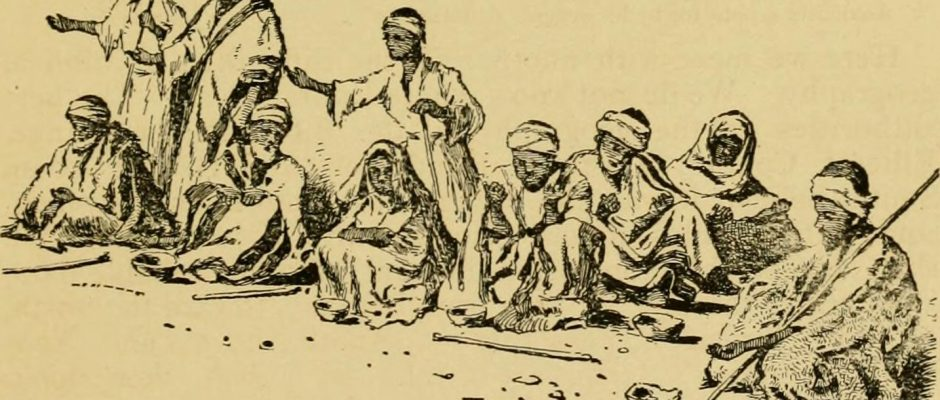 """Ten lepers,"" image from page 94 of ""In His footsteps : a record of travel to and in the land of Christ : with an attempt to mark the Lord's journeyings in chronological order from His birth to His Ascension"" by William Etridge McLennan (1896)"