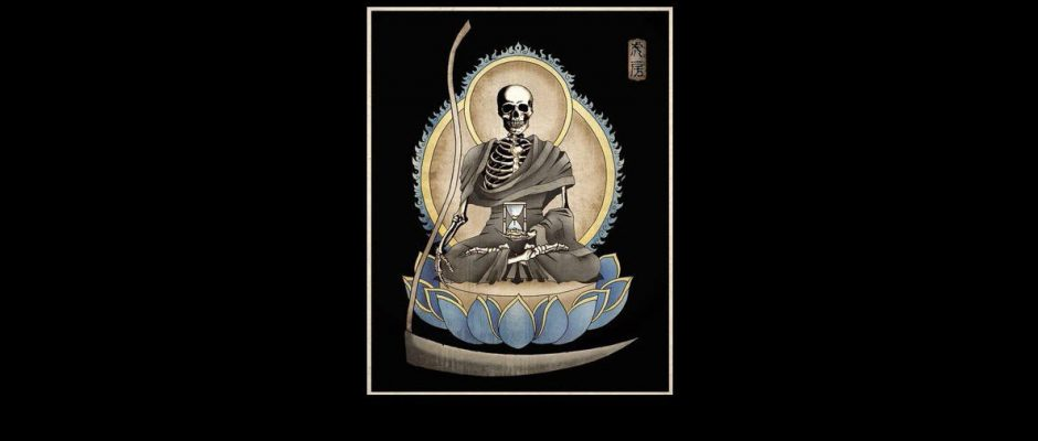 Death meditating, lotus position