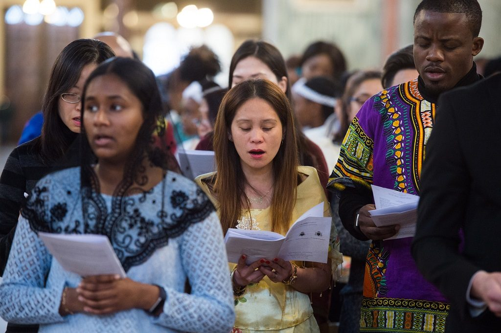 """Migrants Mass 2019"" by Catholic Church (England and Wales) is licensed under CC BY-NC-SA 2.0"