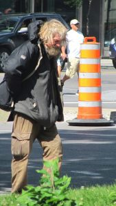 Old homeless man in Montreal