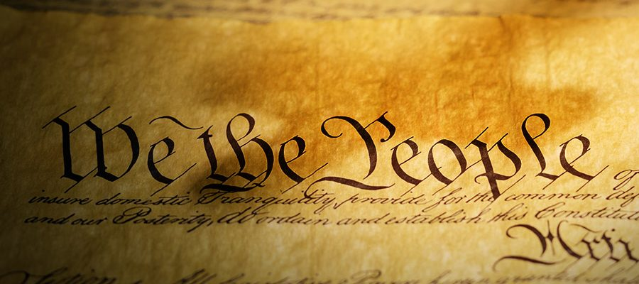 """We the People"" text from the US Constitution"