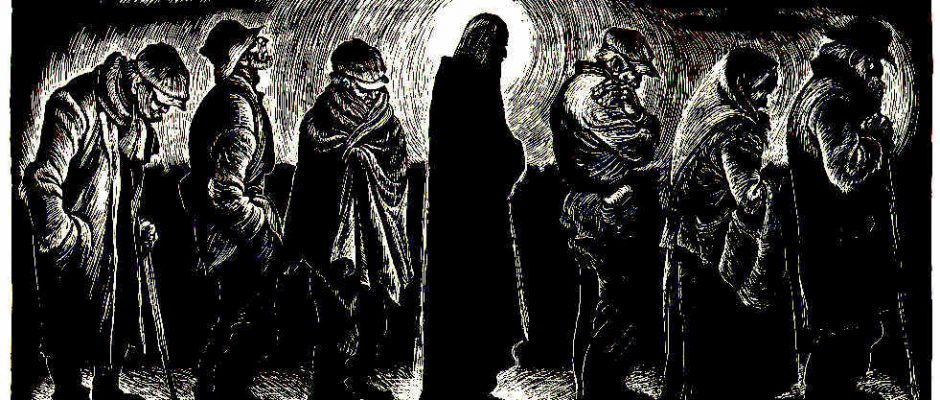 """Christ of the Breadlines,"" Fritz Eichenberg (1953)"