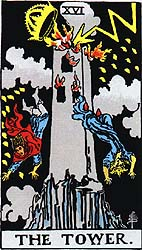 Tarot card The Tower (XVI)