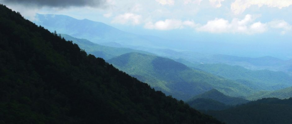 View north from Asheville NC on the Blue Ridge Parkway