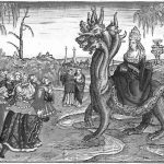 """""""The Whore of Babylon"""" illustration from Martin Luther's 1534 translation of the Bible. Workshop of Lucas Cranach."""