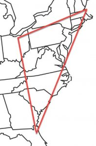 Triangle map of my migration