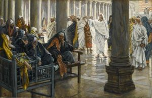 """""""Woe unto You, Scribes and Pharisees (Malheur à vous, scribes et pharisiens),"""" by James Tissot (between 1886 and 1894), Online Collection of Brooklyn Museum [Public domain, via Wikimedia Commons]."""