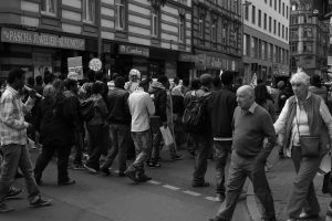 """""""Frankfurt am Main - African refugees rallying for the right to stay in Germany"""" [Demo für Bleiberecht, Bahnhofsviertel], by Picturepest on flickr (1/1/2000)"""